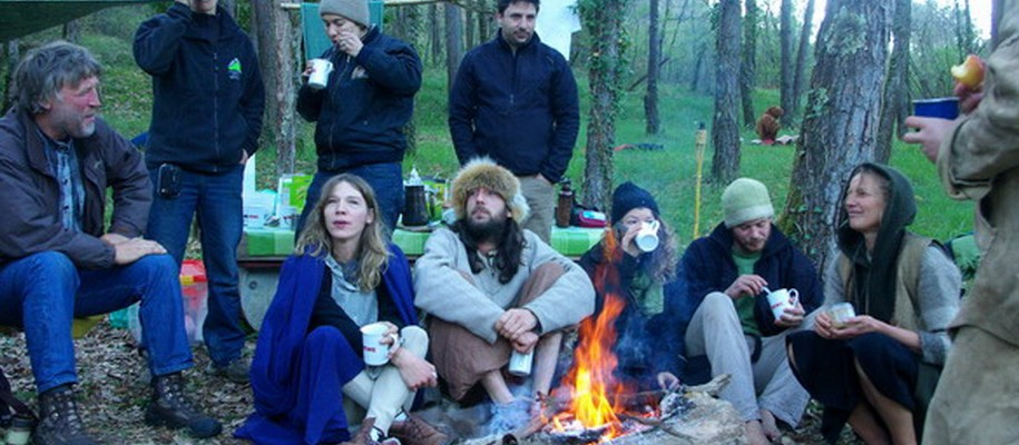 campement de la randonnée des chasseurs de rennes